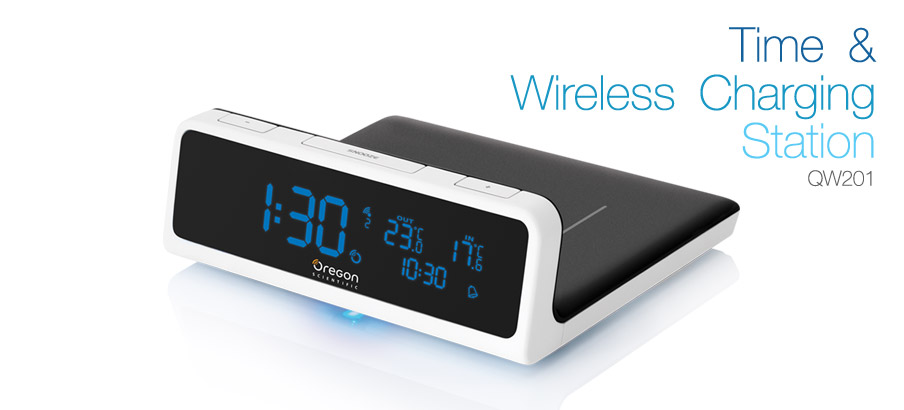 Oregon Scientific - Time & Wireless Charging Stations